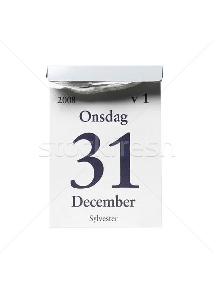 31 декабрь белый студию белом фоне год Сток-фото © gemenacom