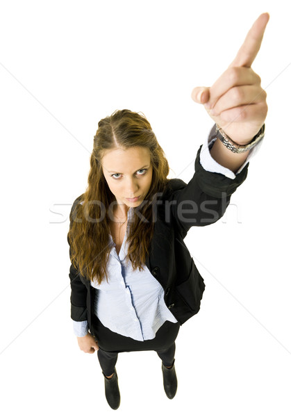 Pointing Woman Stock photo © gemenacom