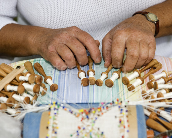 Sewing Handwork Stock photo © gemenacom