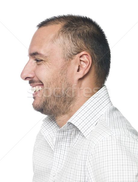 Photo stock: Portrait · homme · rire · sourire · bouche · tête