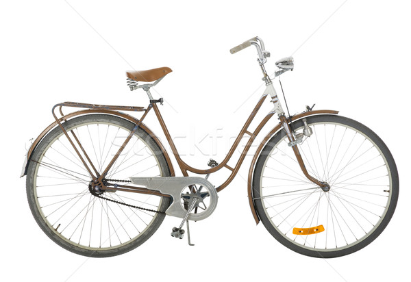 Brown Old fashioned bicycle Stock photo © gemenacom