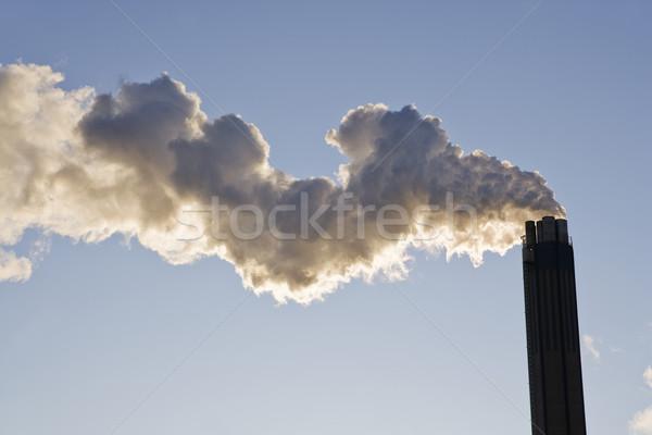 Dohányzás kémény kék ég füst kék menny Stock fotó © gemenacom
