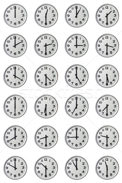 Doze relógio preto e branco branco círculo número Foto stock © gemenacom