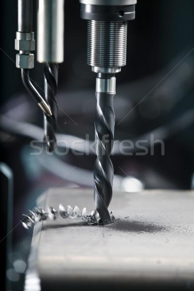 Fúró rövid fém acél minta garázs Stock fotó © gemenacom