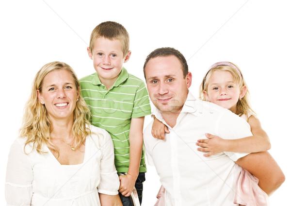 изолированный семьи белый ребенка любви матери Сток-фото © gemenacom