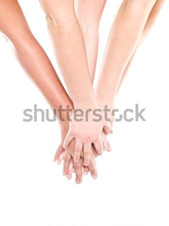 Grup eller yalıtılmış beyaz sevmek el ele tutuşarak Stok fotoğraf © gemenacom