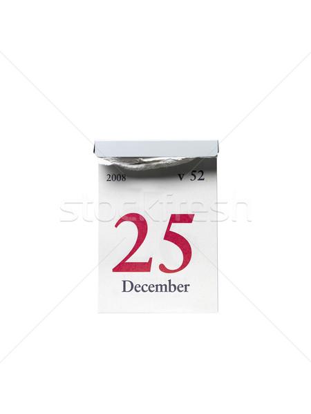 Biały studio christmas białe tło rok grudzień Zdjęcia stock © gemenacom