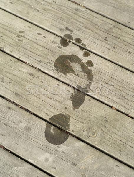 Footprint Stock photo © gemenacom