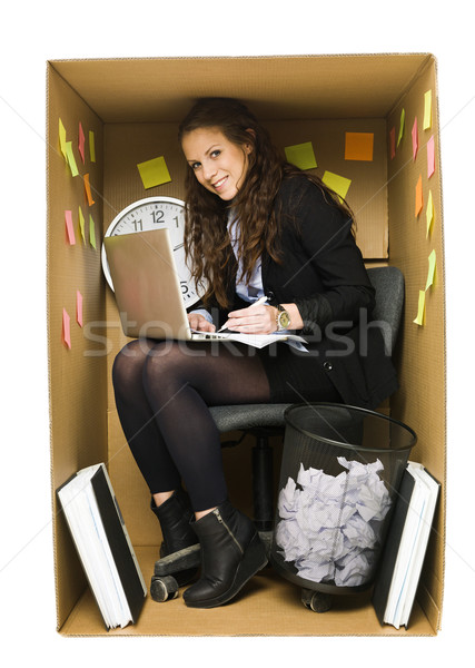 Woman in a small office Stock photo © gemenacom