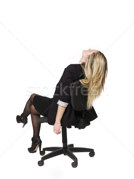 Woman siting in a office chair Stock photo © gemenacom