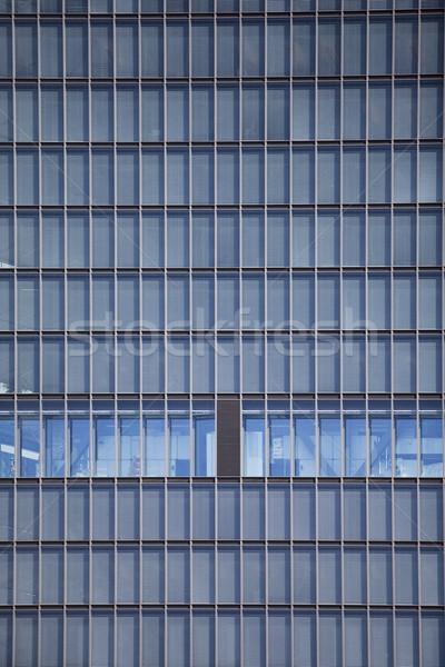 Modern irodaház város ablak kék pénzügy Stock fotó © gemenacom