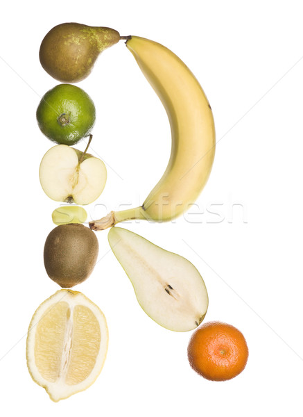 The letter 'R' made out of fruit Stock photo © gemenacom
