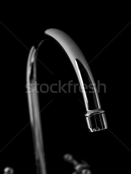 Torneira de água preto aço torneira ambiente queda Foto stock © gemenacom