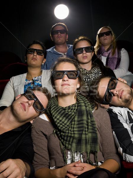 Kina okulary 3d film teatr film tłum Zdjęcia stock © gemenacom