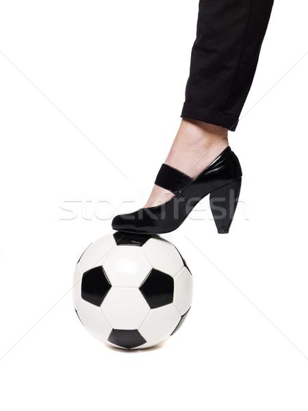 Terlik futbol ayak ayakkabı beyaz oyun Stok fotoğraf © gemenacom