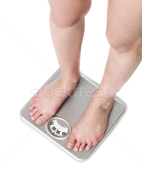 Standing on a whight-scale Stock photo © gemenacom