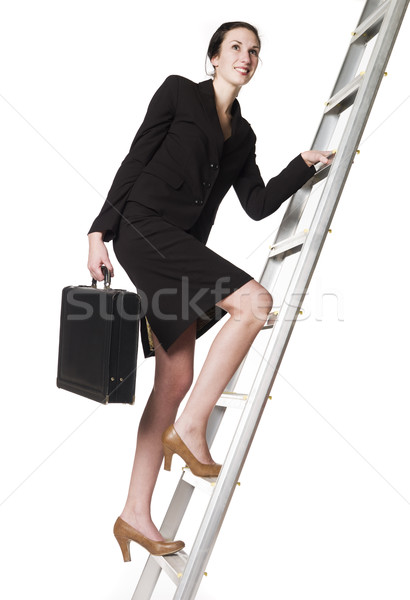 Stock photo: Woman with an Attach