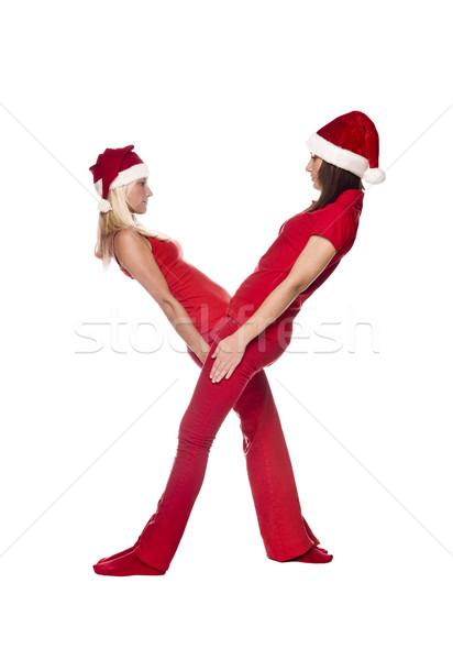 Elfs forming the letter 'X' Stock photo © gemenacom