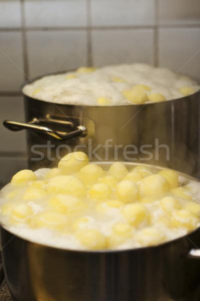 Boiling potatoes Stock photo © gemenacom