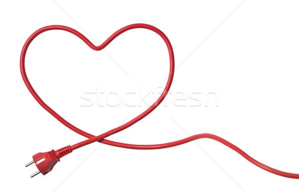 Heartshaped Power Cable Stock photo © gemenacom
