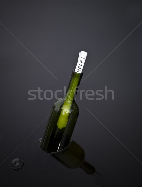 The word 'help' enclosed in a bottle Stock photo © gemenacom