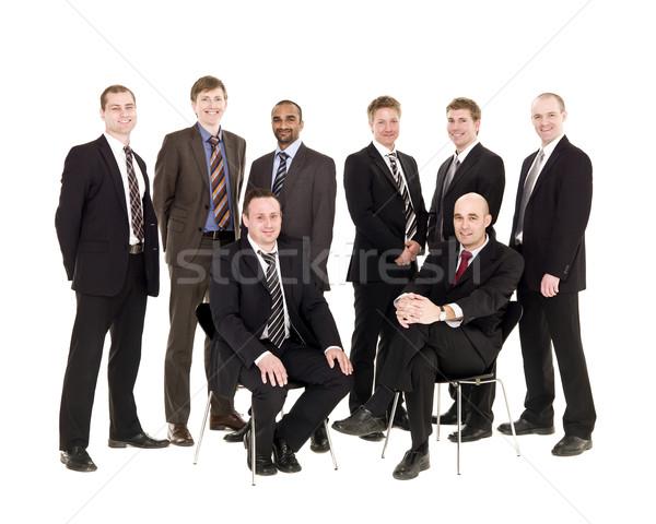 Conselho isolado branco amigos homens grupo Foto stock © gemenacom