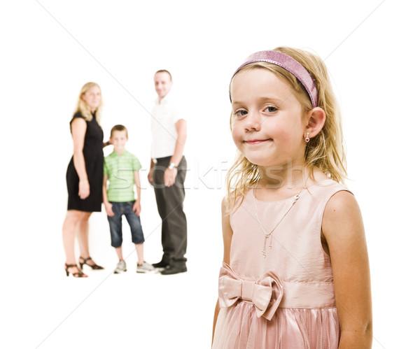 Jeune fille famille isolé blanche femmes enfant Photo stock © gemenacom