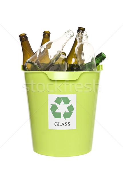 Recycling bin with glass Stock photo © gemenacom