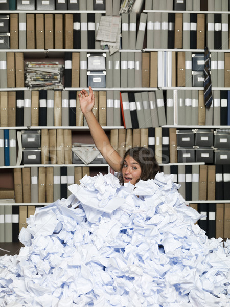 Buried in papers Stock photo © gemenacom