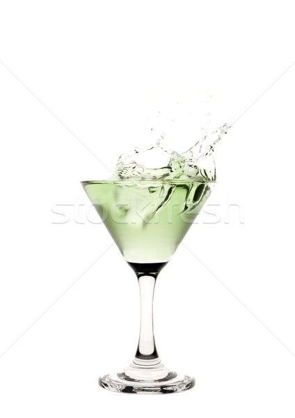 зеленый жидкость стакан мартини пить коктейль Сток-фото © gemenacom