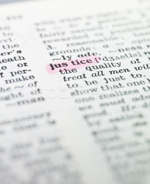 the word 'justice' highlighted in a dictionary Stock photo © gemenacom