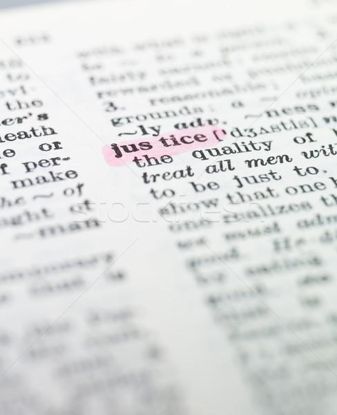 Szó igazság szótár papír könyv nyomtatott Stock fotó © gemenacom