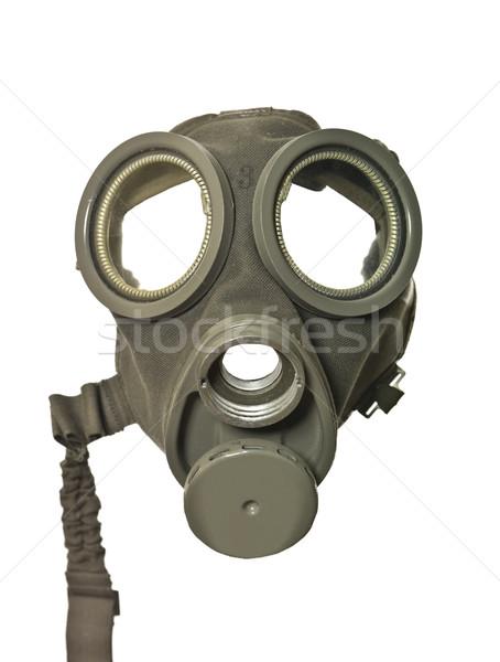 Masque à gaz isolé blanche guerre horreur danger Photo stock © gemenacom
