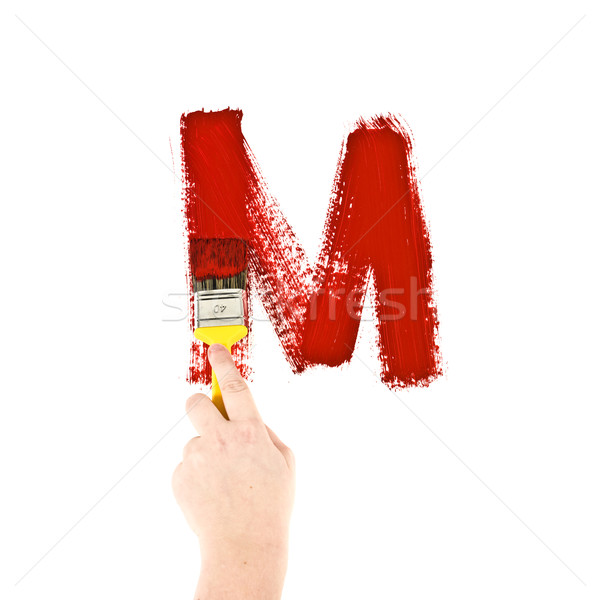 Painting Letter M Stock photo © gemenacom
