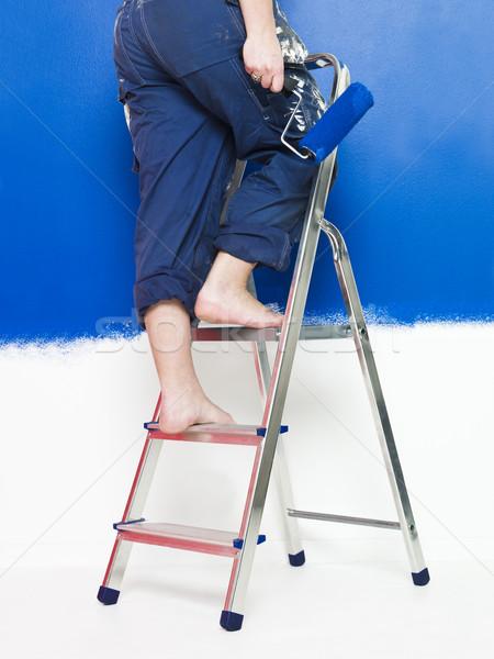 Painting girl Stock photo © gemenacom