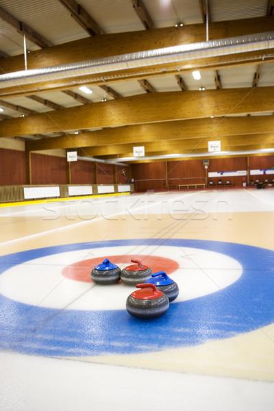Aréna kilátás sportok jég tél kék Stock fotó © gemenacom