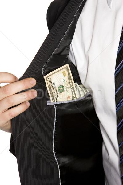 Dollar zak business geld man pak Stockfoto © gemenacom