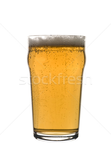 Quartilho cerveja vidro garrafa pub Foto stock © gemenacom