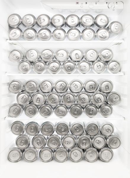 Stok fotoğraf: Bira · buzdolabı · birkaç · soğuk · gümüş