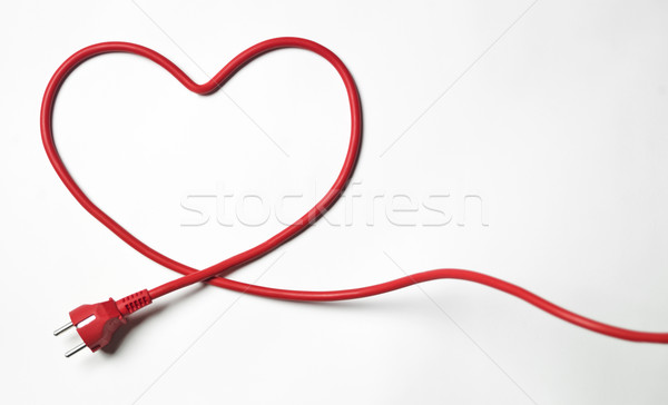 Stock photo: Heartshaped cable