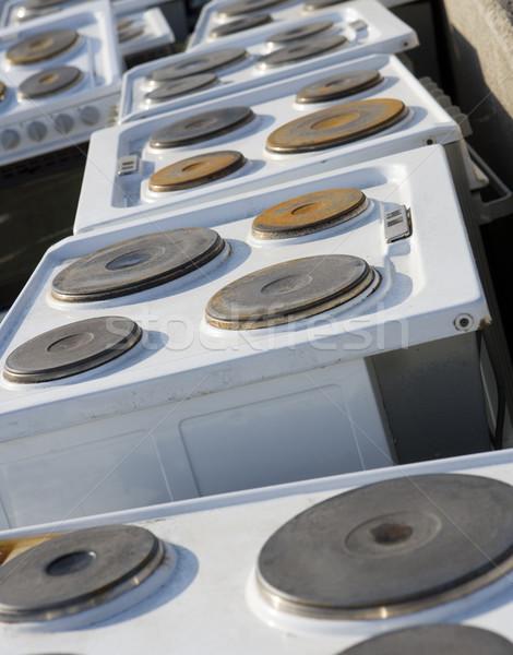 Cozinha dispositivo lixo quadro completo natureza metal Foto stock © gemenacom