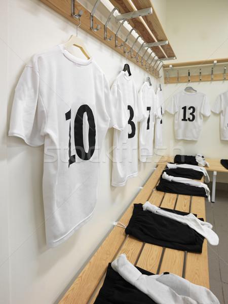 Vestidor fútbol equipos fútbol protección trabajo en equipo Foto stock © gemenacom