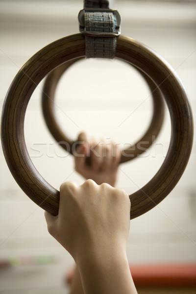 Ringen menselijke opknoping Stockfoto © gemenacom