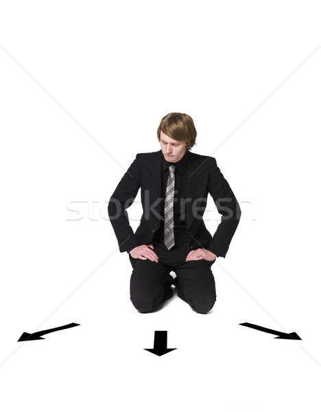 Man sitting in front of a choice Stock photo © gemenacom