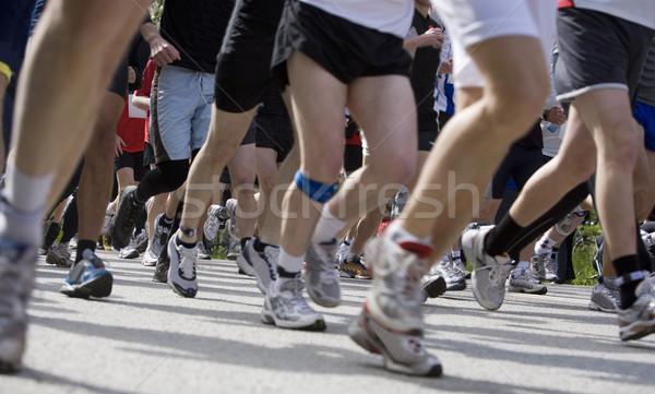 Spor yarış büyük bir grup insanlar spor oyun Stok fotoğraf © gemenacom