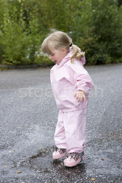 Stock photo: Baby Girl outdoor
