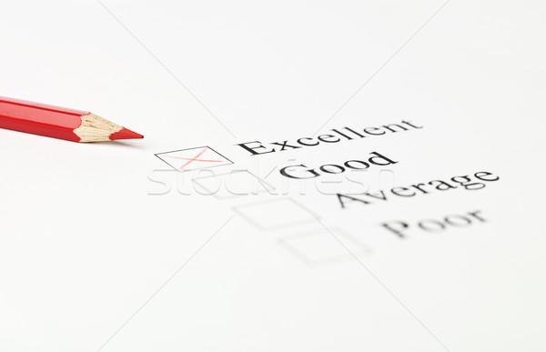 Vermelho caneta caixa cor estúdio desenho Foto stock © gemenacom
