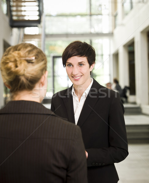 Two women in a conversation Stock photo © gemenacom