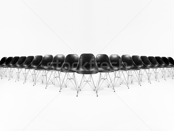 Formation of black chairs Stock photo © gemenacom