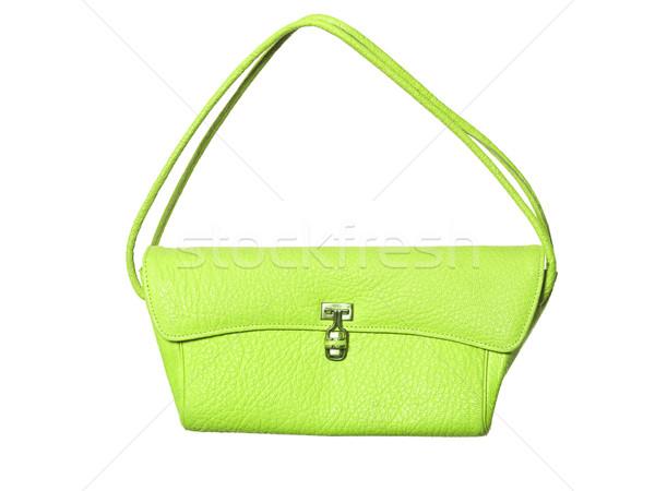 зеленый кошелька изолированный белый моде сумку Сток-фото © gemenacom